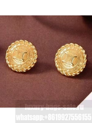 Celine Preclous Stud Earrings Gold Spring/Summer 2021 Collection