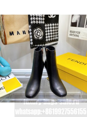 FENDI FIRST Black leather high-heeled boots 2021 Collection