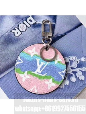 Louis Vuitton LV Escale Key Holder and Bag Charm M69272 Pink 2020 Collection