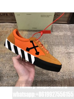 Off-White Low Top Stripe Sneakers in Orange 2020 Collection
