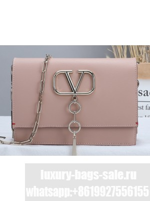Valentino Small VCASE Bag in Smooth Calfskin Nude 2020