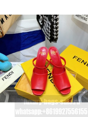 FENDI FIRST Red leather high-heeled sandals 2021 Collection