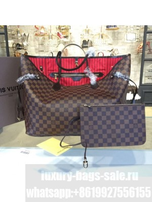 Louis Vuitton Neverfull GM Damier Ebene Canvas Cruise 2016 Collection, Cherry N41357