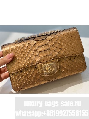 Chanel Python Classic Flap Small Bag A1116 01