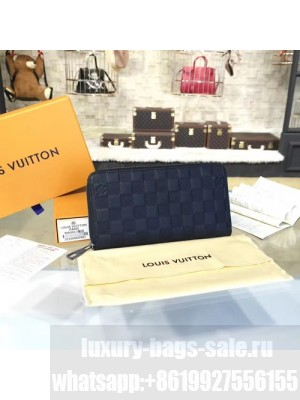 Louis Vuitton Zippy Wallet Damier Infini Leather Canvas Fall/Winter 2016 Collection N63010, Onyx