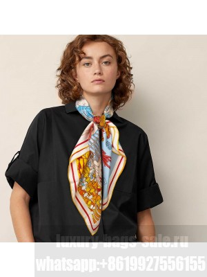 Hermes Scarf in cashmere and silk 90 x 90cm 2021 H044