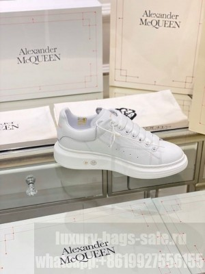 Alexander McQueen Oversized Platform Lace Up Creeper Sneakers Spring/Summer 2020 Collection, White