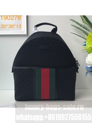 Gucci GG Canvas Web Backpack 190278 Black 2019 Collection