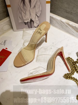 Christian Louboutin Just Nothing 10 mm Mule Beige 2021 Collection