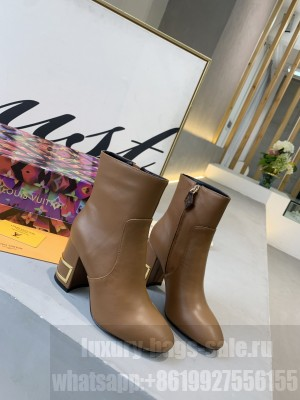 Louis Vuitton 1A671H BLISS 5.5 CM HEEL BROWN ANKLE BOOT  2020 Collection