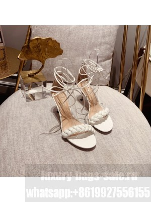GIANVITO ROSSI LEOMI LEATHER SANDALS White Spring/Summer 2021 Collection