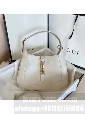 Gucci Vintage Jackie Hobo Bag 28cm Calfskin Leather Fall/Winter 2020 Collection, White