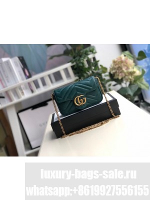 Gucci Mini Marmont Shoulder Bag 16cm 476433 Calfskin Leather Spring/Summer 2020 Collection, Green