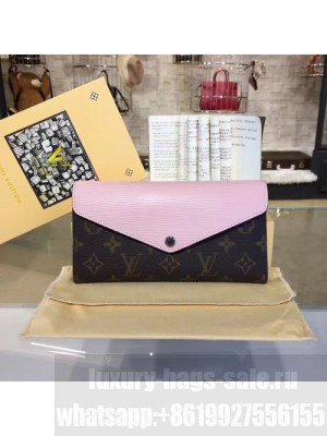 Louis Vuitton Marie Lou Long Wallet Epi and Monogram Leather Canvas Fall/Winter 2016 Collection M60499, Rose Ballerine