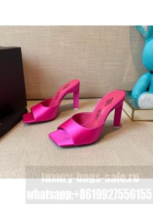 """The Attico """"Devon""""Pink Silk mule with pyramid heel, height 115mm Spring/Summer 2021 Collection"""