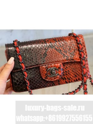 Chanel Python Classic Flap Small Bag A1116 06