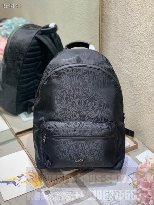 Christian Dior Backpack 42cm Nylon Canvas Fall/Winter 2020 Collection, Black