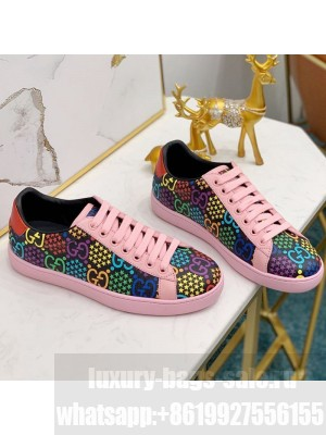 Gucci GG Star Psychedelic Ace Sneakers 610086 Pink 2020 (For Women and Men) Collection