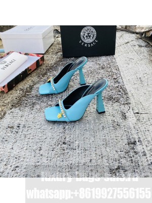 VERSACE ARTIFACT 95MM MULES BLUE 2021 Collection