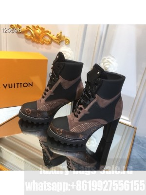 Louis Vuitton Star Trail Ankle Lace Up Boot  Monogram Canvas Mules Fall/Winter 2020 Collection 1A86OF, Black