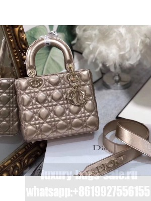 Dior MY ABCDior Medium Bag in Cannage Leather Champagne 2019 Collection