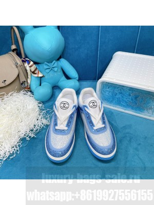 Chanel Diamond Sneakers Blue 2021 Collection
