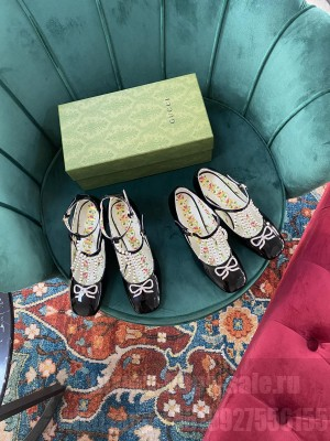Gucci Black Patent Leather With Swarovski 65mm Pumps 2021 Collection
