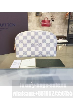 Louis Vuitton Cosmetic Pouch Damier Azur Canvas Cruise 2016 Collection, N60024