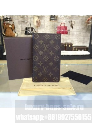 Louis Vuitton Long Bi-Fold Card Holder Monogram Leather Canvas Fall/Winter 2016 Collection N63285