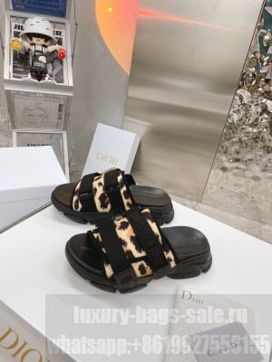 Dior D-Wander Fabric Slide Sandals 2021 Collection
