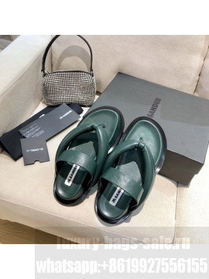 JIL SANDER Outdoor platform sandals with toe post geta-style upper Green 2021 Collection