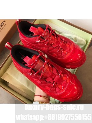 Burberry Nylon and Suede Arthur Sneakers Red 2020
