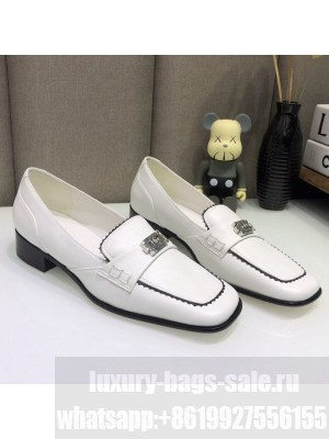 Chanel Contarsting Trim Lambskin Loafers White Spring/Summer 2021 Collection