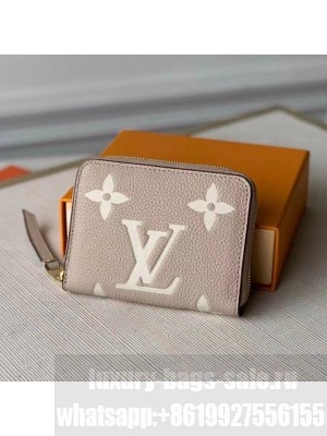 Louis Vuitton Zippy Coin Purse Wallet in Giant Monogram Leather M69797 Grey 2021 Collection