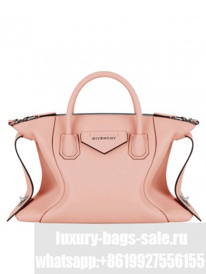 Givenchy Small Antigona Soft Bag In Smooth Leather Pink