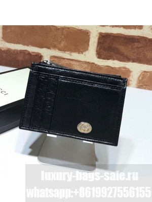 Gucci Soft Leather Card Case 597672 Black 2019 Collection