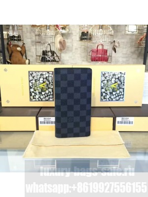 Louis Vuitton Brazza Wallet Damier Graphite Leather Canvas Fall/Winter 2016 Collection N62665