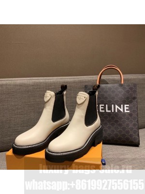 Louis Vuitton Beaubourg Ankle Boots Calfskin Leather Fall/Winter 2020 Collection 1A8949, White