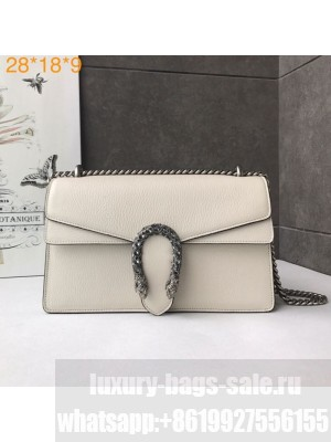 Gucci Dionysus Leather Small Shoulder Bag 400249 White/Silver Collection