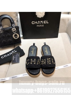 Chanel Women's Mules G34826 Spring/Summer 2021 Collection Black