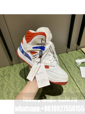 Gucci Unisex Basket High-Top Sneakers 06 2021 Collection