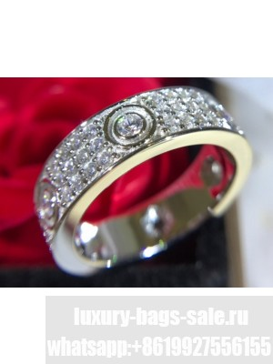 Cartier Love Ring with All Diamonds White Gold