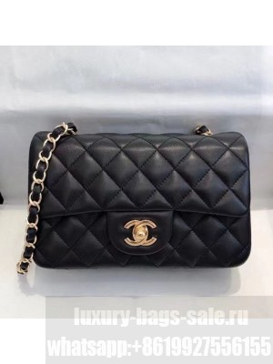 Chanel Lambskin Classic Mini Flap Bag A69900 Black/Gold  2021 Collection