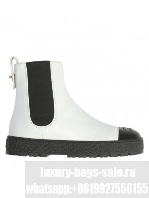 Chanel Women's Ankle Boots White