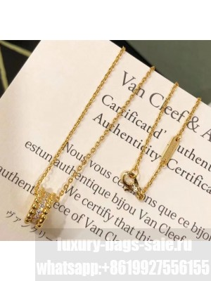 Van Cleef & Arpels Crystal Necklace 38 Gold 2020 Collection