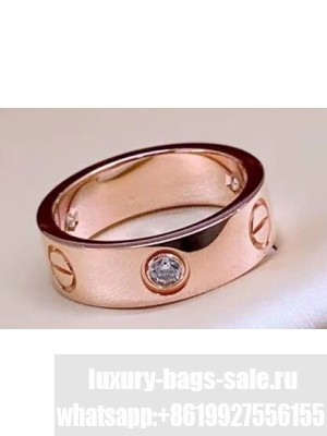Cartier Love Ring with 1 Diamond Pink Gold