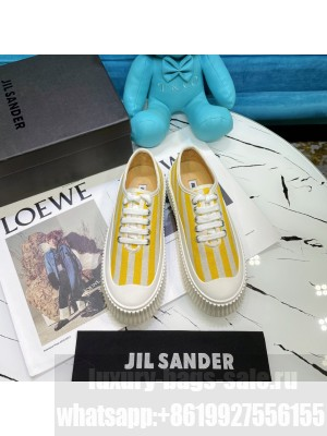 JIL SANDER Leather sneakers with vulcanized rubber sole 13 2021 Collection