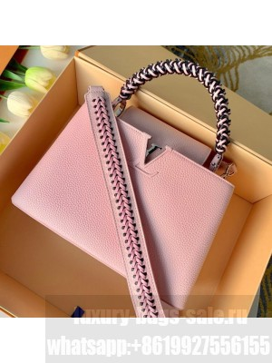 Louis Vuitton Capucines PM with Braided Handle M55083 Pink 2019 Collection