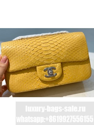 Chanel Python Classic Flap Small Bag A1116 12