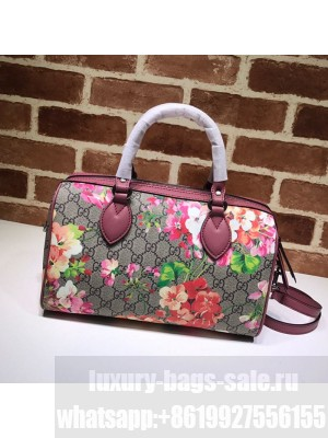 Gucci GG Canvas Flower Boston Bag 409529 Red Collection